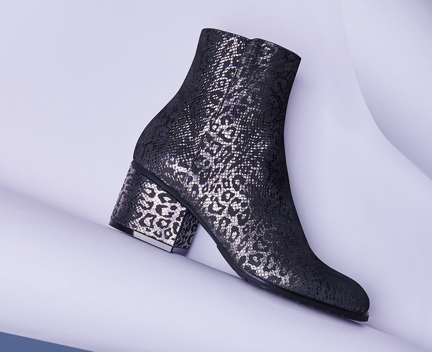 leopard woman ankle boot