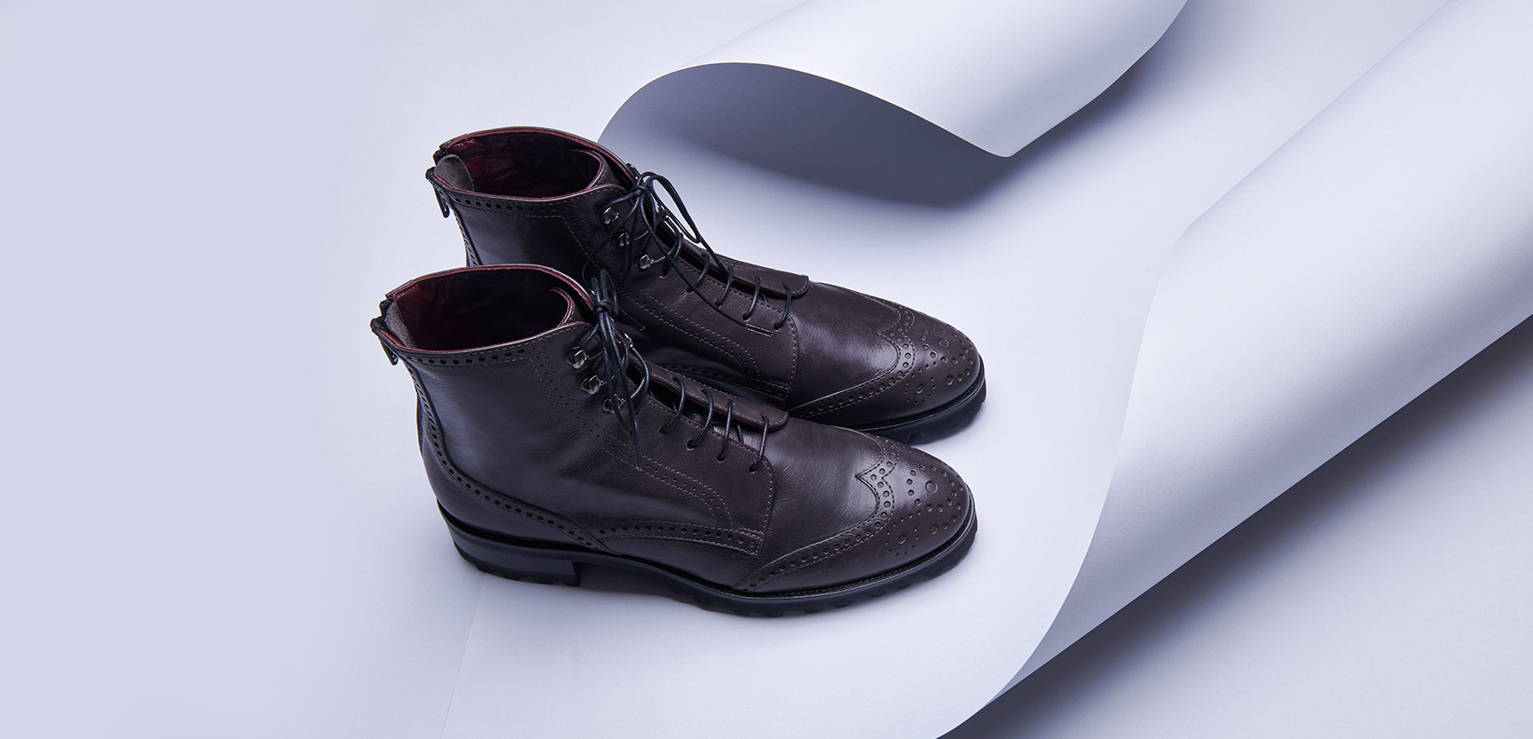 brown women's boot with laces