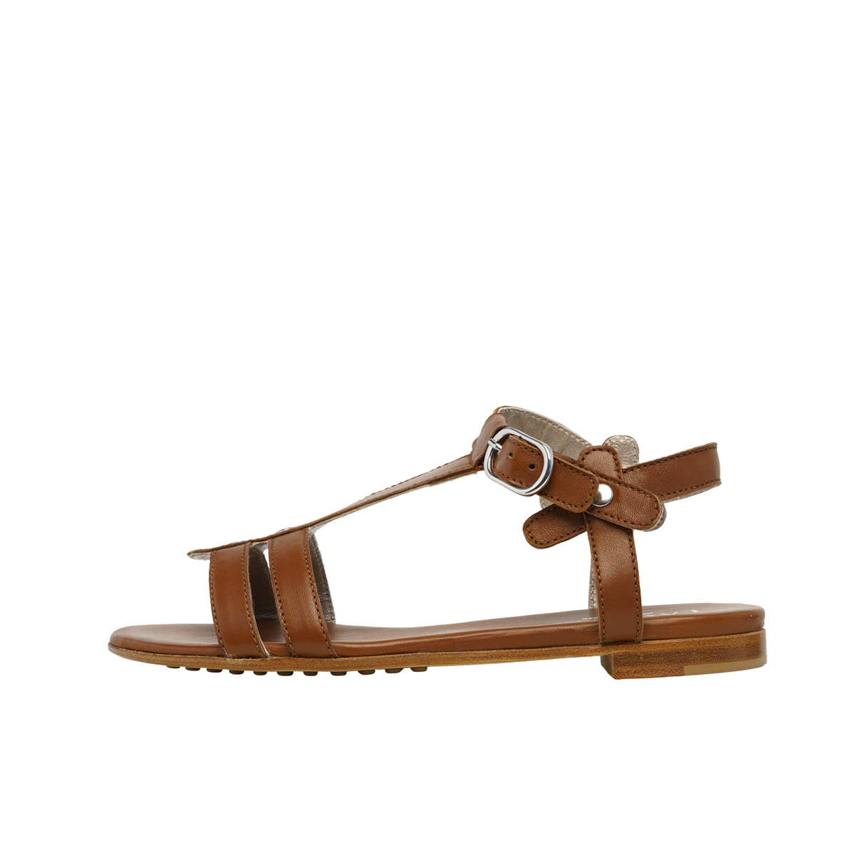 Strips Leather Sole Sandal