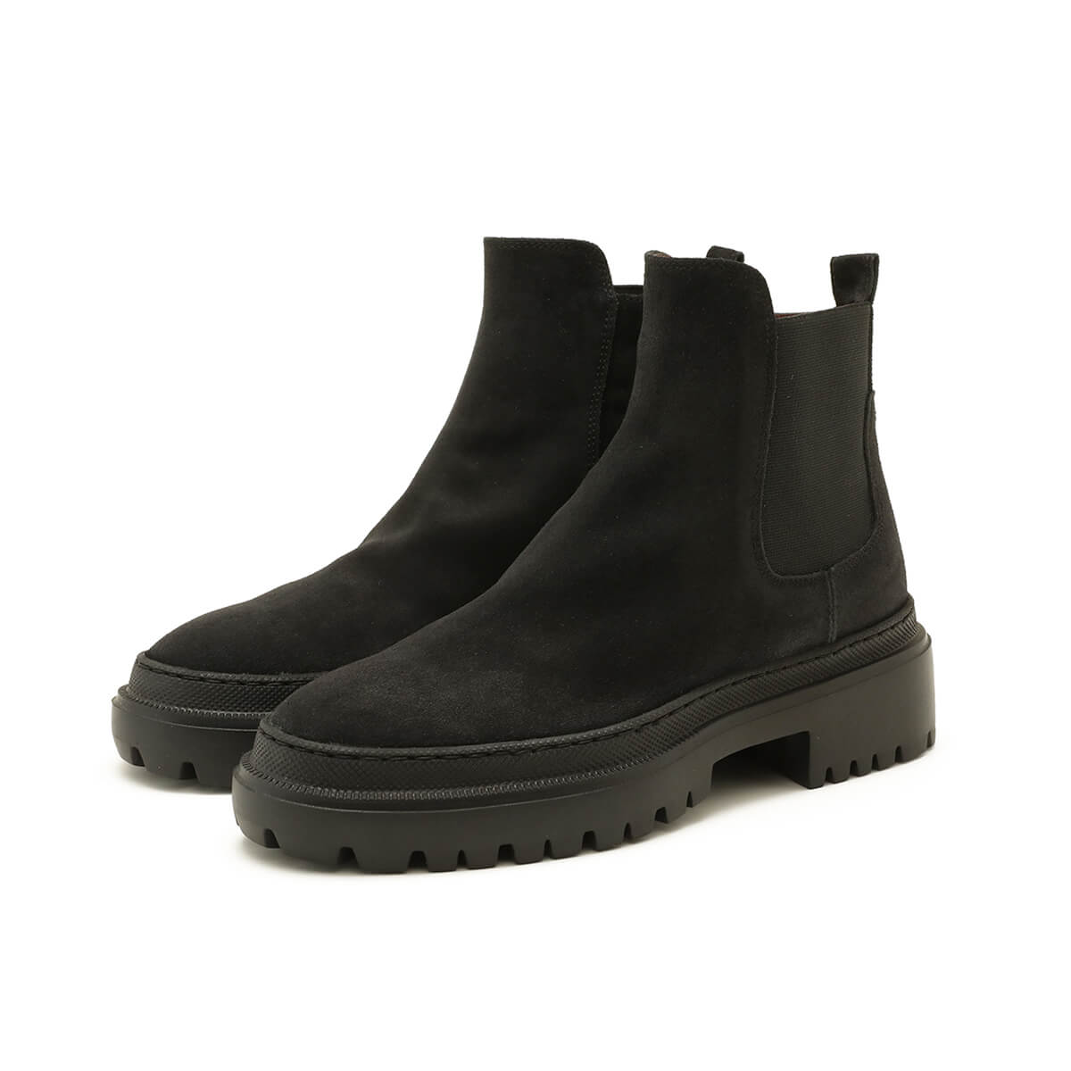Chunky Beatles Boots, black suede