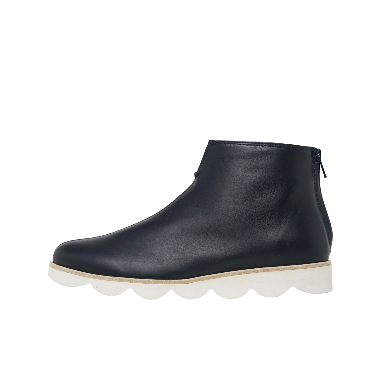 Light Rubber Sole Back Zip Ankle Boot